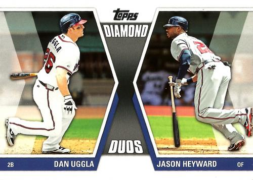 2011 Topps Diamond Duos Series 2 #DD-5 ~ Dan Uggla / Jason Heyward