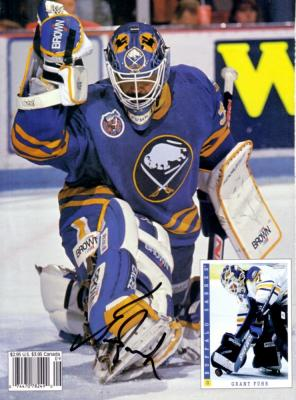 Grant Fuhr autographed Sabres Beckett Hockey back cover