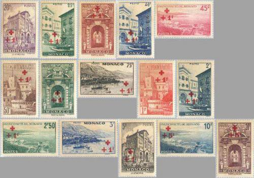 Red Cross overprints 15v; Year: 1940