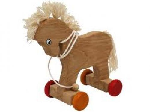 Wooden Toys Horse On Wheels
