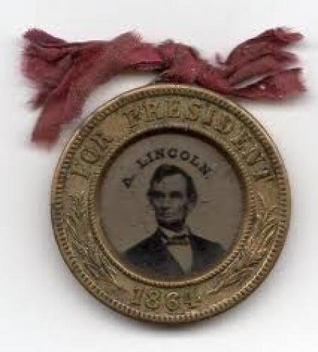 Abraham Lincoln original memorabilia items; 1864