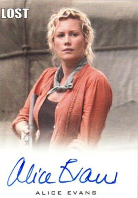 Alice Evans Lost certified autograph card