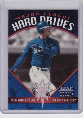 1998 LEAF ROOKIES AND STARS HARD DRIVES INSERT SERIAL #/2500 KEN GRIFFEY JR