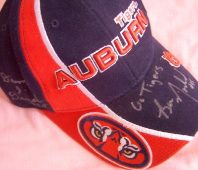 Damon Duval &amp; Ben Nowland autographed Auburn cap
