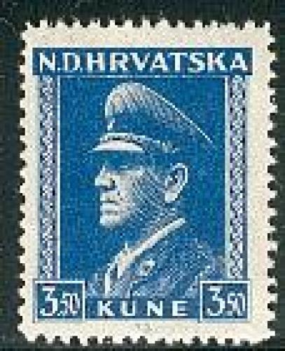 Definitive, Pavelic 1v; Year: 1943