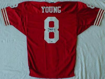 Steve Young autographed San Francisco 49ers authentic jersey