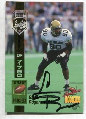 Sam Rogers Colorado certified autograph 1994 Signature Rookies card