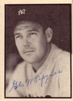 George Pipgras autographed 1927 New York Yankees 50th Anniversary card