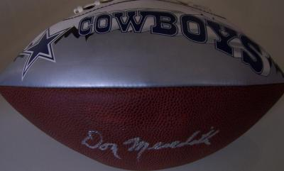 Don Meredith autographed Dallas Cowboys logo football