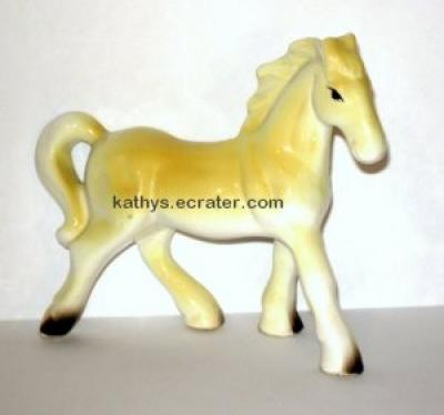Japan Ceramic Horse Palomino Foal Animal Figurine