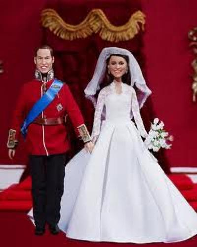 Dolls; Hamleys unveiled the Prince William and Princess Wedding