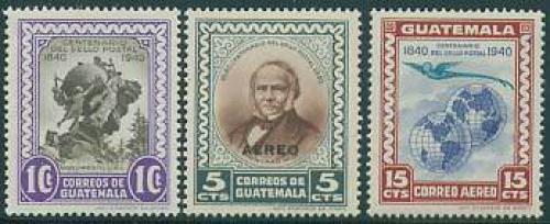 Stamp centenary 3v; Year: 1946