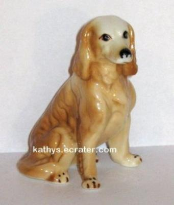 Bone China Golden Retriever Dog Animal Figurine