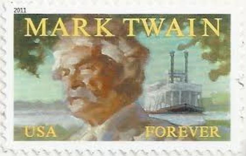 Stamps; USA Stamp 2011. Mark Twain, Forever a first class stamp rate