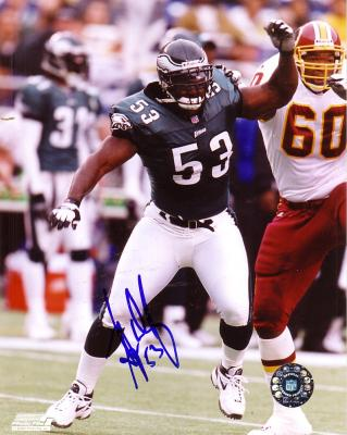 Hugh Douglas autographed 8x10 Philadelphia Eagles photo