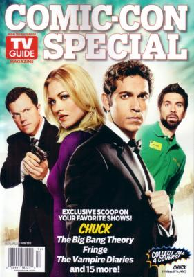 Chuck 2011 Comic-Con TV Guide magazine
