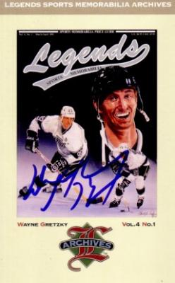 Wayne Gretzky autographed Los Angeles Kings Legends postcard