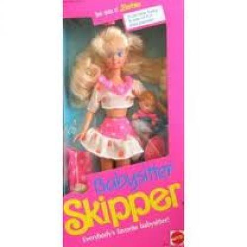 Dolls; Mattel Barbie Babysitter SKIPPER Doll (1990)