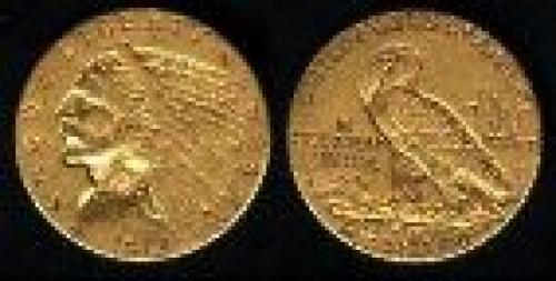 25 dollars; Year: 1908-1929; Indian Head Qtr Eagle