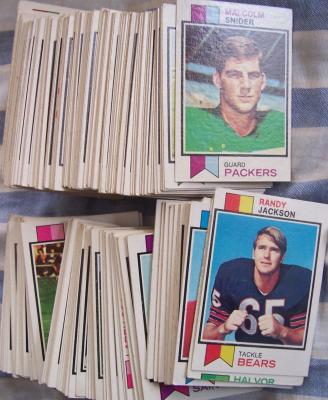 1973 Topps football card partial set (Dick Butkus O.J. Simpson Fran Tarkenton Jack Youngblood RC)