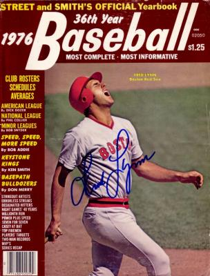 Fred Lynn autographed Boston Red Sox 1976 Street and Smith's Yearbook