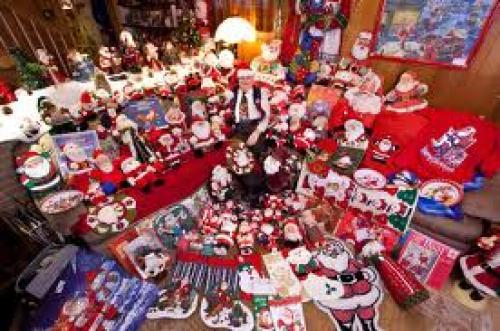 Different items of Santa Claus memorabilia