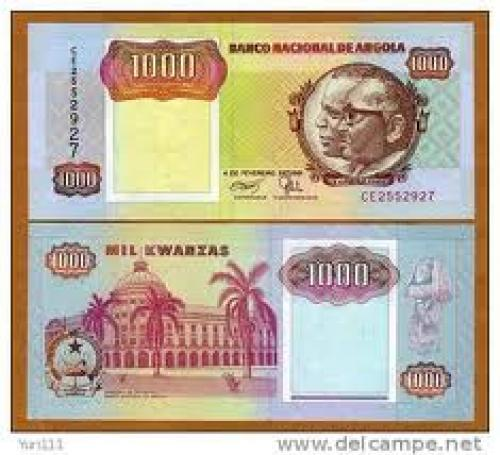 Banknotes; 1000 Kwanzas; Angola, Africa