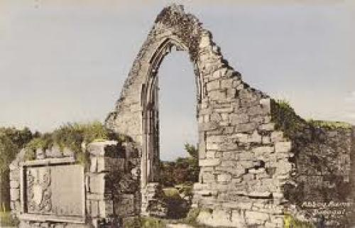 The Abbey Ruins at Donegal, Postmarked in Ireland on June 7, 1963