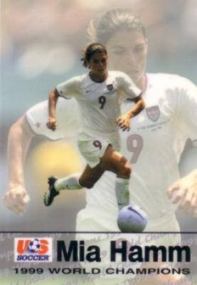 Mia Hamm 1999 U.S. Women&#039;s National Team Roox soccer card