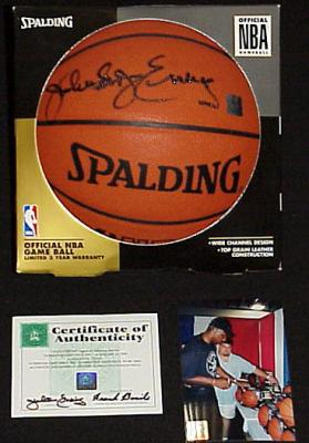 Julius Erving autographed NBA game basketball