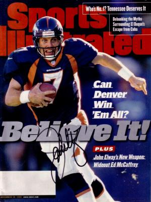 John Elway autographed Denver Broncos 1998 Sports Illustrated