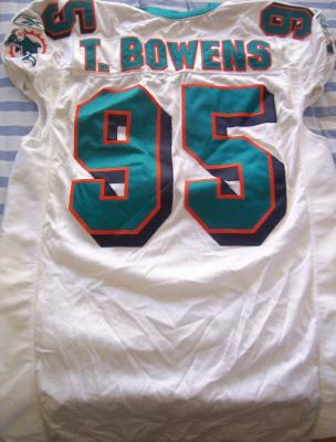 Tim Bowens Miami Dolphins game used or game worn 2004 jersey