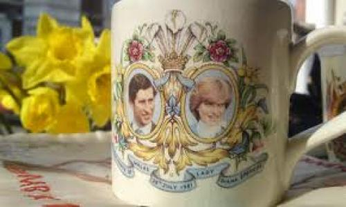 Commemorative memorabilia from Prince Charles and Princess Diana's wedding