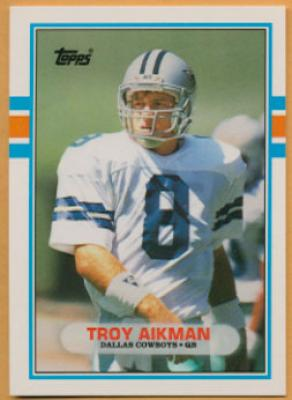 Troy Aikman Dallas Cowboys 1989 Topps Traded Rookie Card #70T