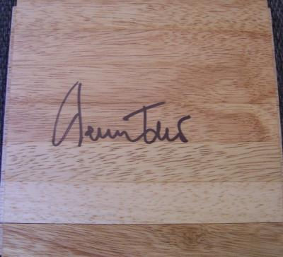 Jerry West autographed 6x6 hardwood floor