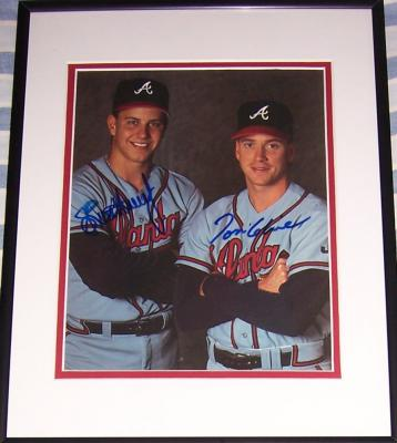 Tom Glavine & Steve Avery autographed Atlanta Braves 8x10 photo matted & framed