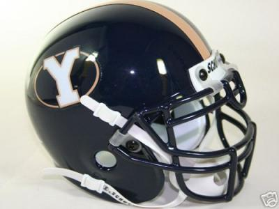 BYU Cougars mini helmet (1999-2004 Schutt throwback)