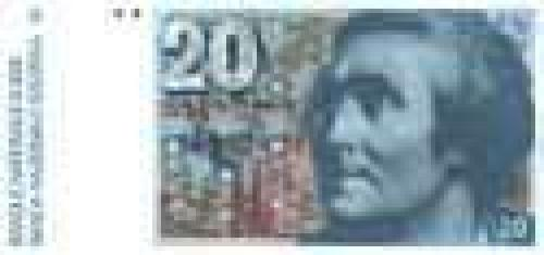 20 Swiss francs; Older banknotes (1975-1993)