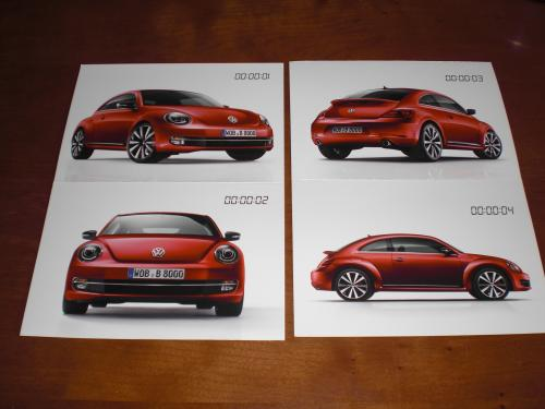 VW Beetle postcards 4x