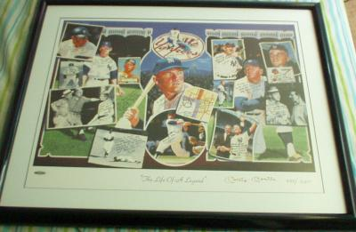 Mickey Mantle autographed New York Yankees UDA Life of a Legend lithograph framed #257/2401