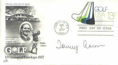Tommy Aaron autographed Masters Golf First Day Cover with Bobby Jones cachet