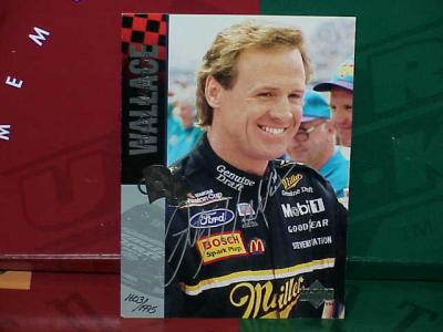 Rusty Wallace (NASCAR) autographed 5x7 photo card UDA ltd edit 1995