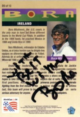Bora Milutinovic autographed 1993 Upper Deck soccer card