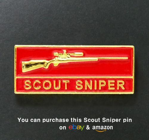 U.S. Marine Corps Scout Sniper Commemorative Metal Badge Pin (USMC, Marines)