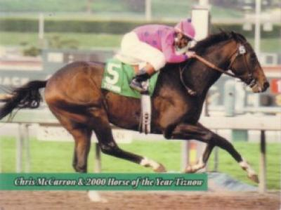 Chris McCarron & 2000 Horse of the Year Tiznow card