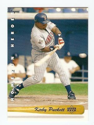 Kirby Puckett 1993 Upper Deck Home Run Heroes insert card