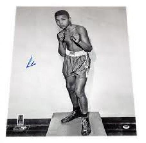 Memorabilia; Autographed Muhammad Ali the legendary boxer