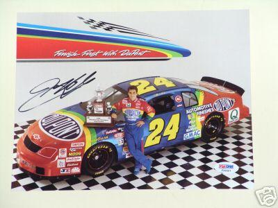 Jeff Gordon autographed 8x10 photo