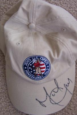 Michael Campbell autographed 2005 U.S. Open golf cap