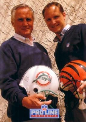 Don Shula & Dave Shula 1992 Pro Line Portraits Collectible insert card #8